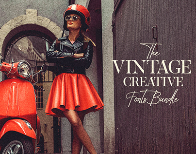 The Vintage Creative Fonts Bundle