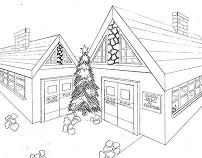 Perspective Drawing: Santa's Workshop