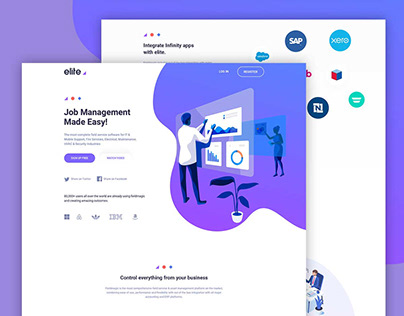 Free* Job Management Landing Page