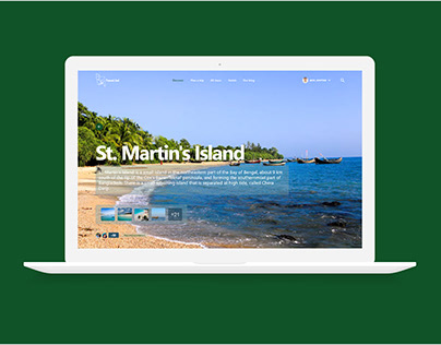 Info Card Screen Design for Tourism Websites & Web App