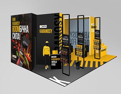 Exhibition stand KABANOSY for international exhibition