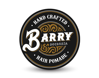 Barry Pomade Packaging Hand Lettering Design