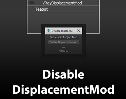 Disable DisplacementMod of all objects with one click