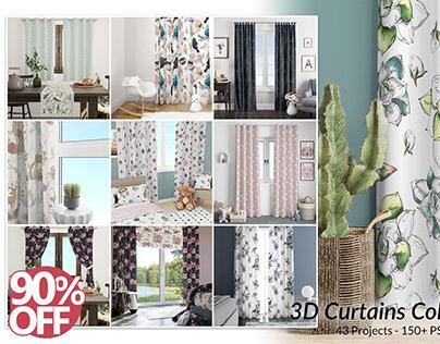 3D Curtains Collection - Mockup Bundle