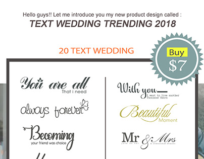 Project NEW Text Wedding trending 2018 ($7)