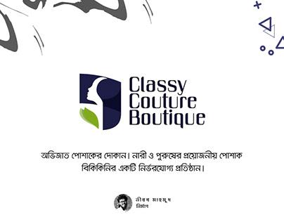 Classy Couture Boutique Shop Logo