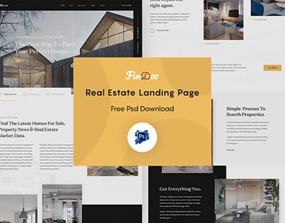 Freebie - Real Estate Landing Page Design