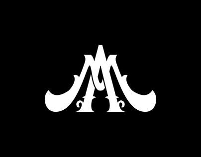 AM Monogram Vintage Logo