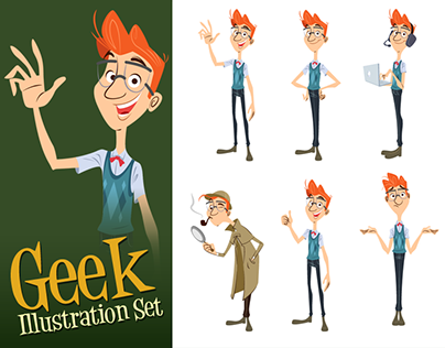 Geek Illustration Set