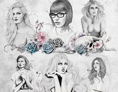 Live muses & dead roses (illustrations and book)