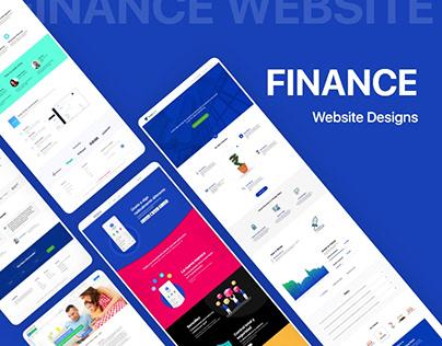 Set of 5 Finance Website