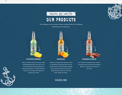 Food and Drink Website Designs