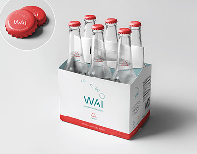 WAI Hawaiian Spring Water — Graphic design concept