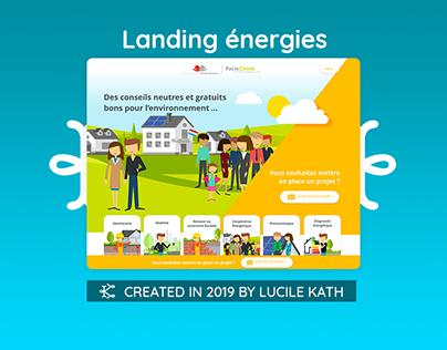 Landing Page sur les énergies renouvelables