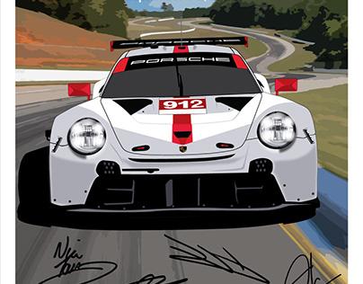 Porsche Road Atlanta 2020 Collectible Poster