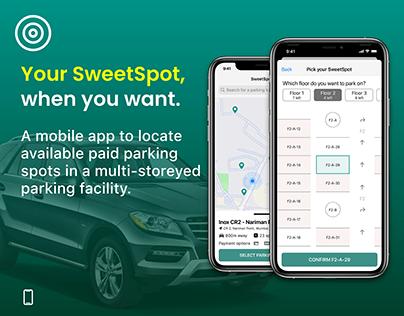 SweetSpot - A Multi Storey Parking App Concept
