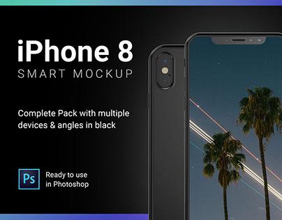 iPhone 8 Smart Mockup for Photoshop