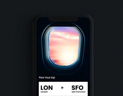 Flight booking App - Interaction design
