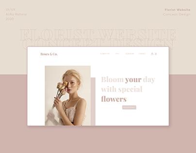 UI/UX Florist Website Concept Design
