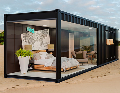 Shipping container to hotel