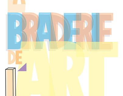 Affiche Braderie de l'art (en cours)