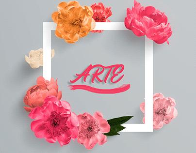 Arte quadro de flores