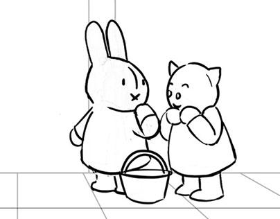 Miffy - Imaginary Plane - storyboard excerpt