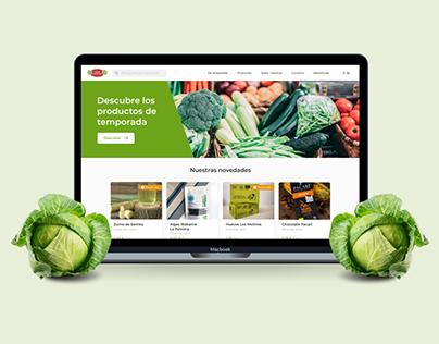 Entre Col y Col: Rediseño de web de una frutería local