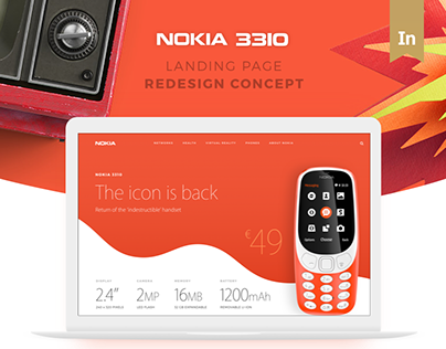 Nokia 3310 Landing Page Redesign Concept - Apple Style