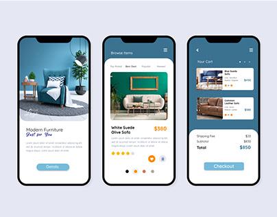 Online Shopping App Interface