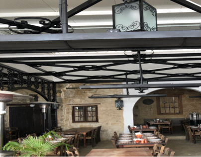 VOREAS traditional tavern patio heating solution