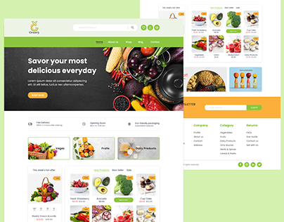 Grocery Delivery Website UI