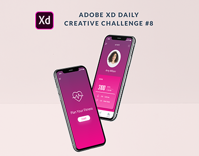 XD Daily Creative Challenge #8 Fitness TrackerMobileApp