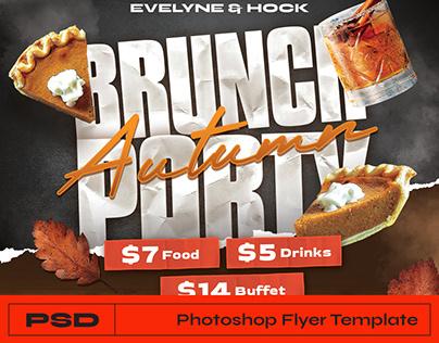 Autumn Brunch Flyer Photoshop Template