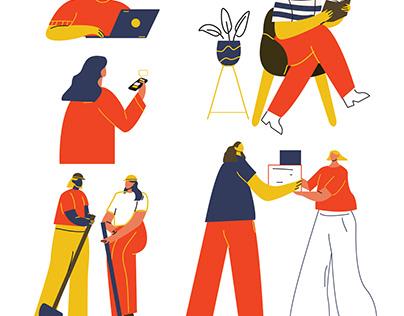 book prompt illustration