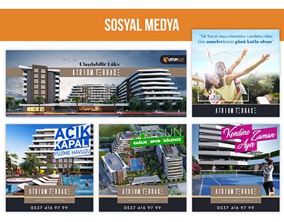 Atrium Terrace Sosyal Medya