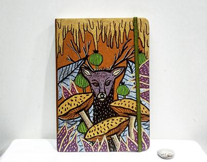 Mushroom paiting notebooks