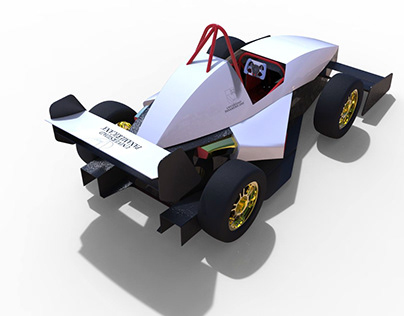 Desing and modeling of a race car type F1.