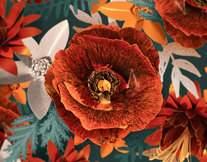 Paper flowers | pattern