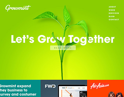 Growmint Homepage