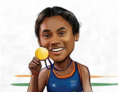 Hima Das - Goalden Girl