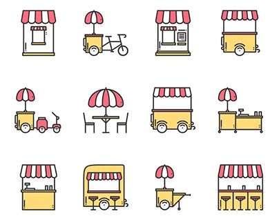 Line Icons - Food Retail