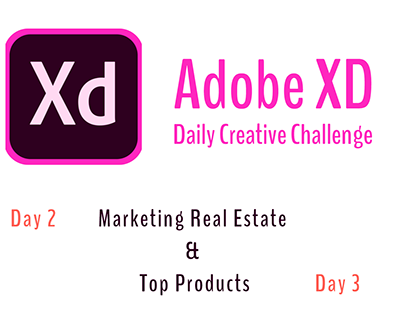 Adobe XD Daily Creative Challenge (Day 2 & Day 3)