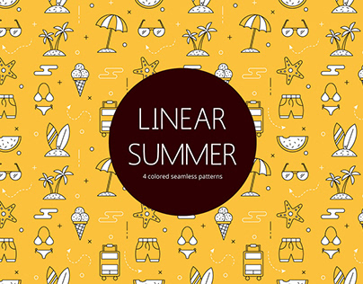 Summer Linear Vector Seamless Free Pattern
