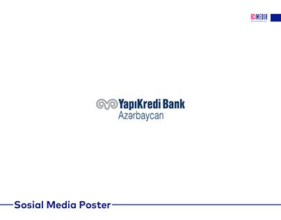 Yapı Kredi Bank üçün hazırlanmış sosial media postları