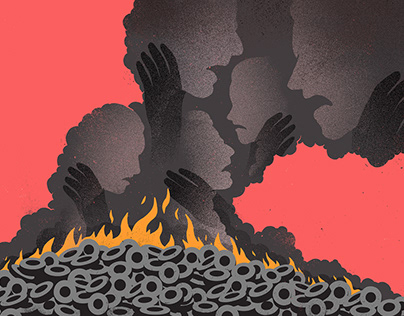 The Guardian - The burning tyres choking India