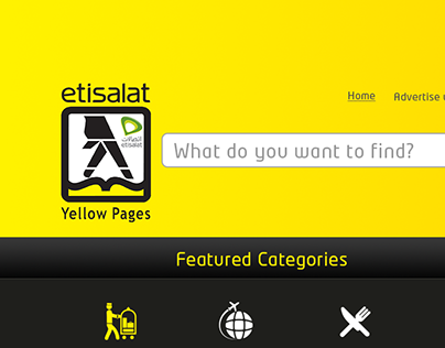 Etisalat Yellow Pages Web Site Design
