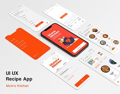 UI UX - Recipe App - Mum's Kitchen