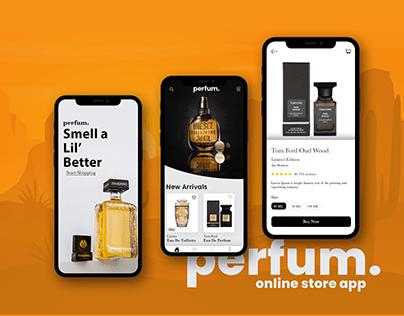 Free Online Store Mobile App Design PSD