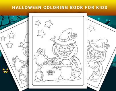 Halloween Coloring Book Pages for Kids